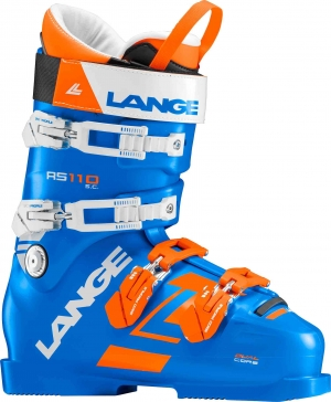 Detské závodné lyžiarky Lange RS 110 S.C. power blue/orange/white