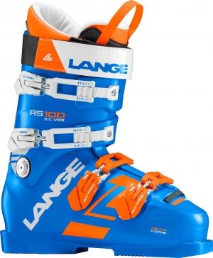 Detské závodné lyžiarky Lange RS 100 S.C. WIDE power blue/orange/white