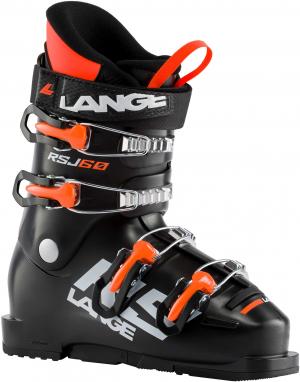 Detské lyžiarky Lange RSJ 60 black/ orange fluo